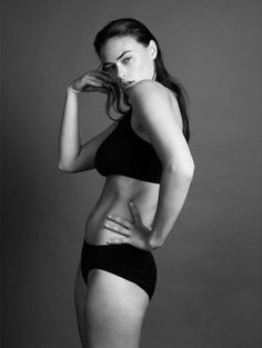 This model is beautiful.  No doubt, but I think that Calvin Klein is completely missing the point.  She is not Plus size, she's just healthy.  Those of us struggling at a 14 or higher, still can't relate to this model.  How about he find out who's purchasing his clothing at an actual store and work with that real person as a model.