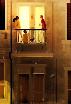 Illustration by Pascal Campion Street Art, Pascal Campion, Love Illustration, Illustrations, Art Plastique, Storyboard, Bunt, Collages, Fantasy Art