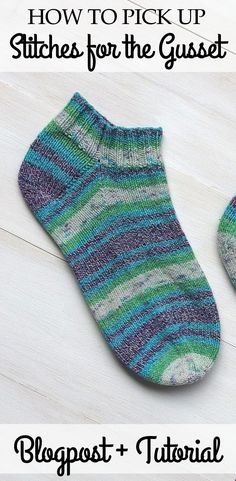 Pick up stitches without getting holes in your socks! I show different techniques to avoid gaps or holes and to pick up stitches more evenly.