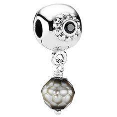 Pandora Grey Pearl of Wisdom Clip