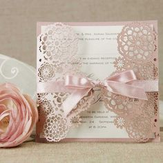 Intricate Floral Lace Filigree Laser Cut Gatefold by Cartalia