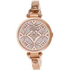 Montre pour femme : Fossil Women's Georgia ES3422 Rose-Goldtone Stainless Steel Quartz Watch | O