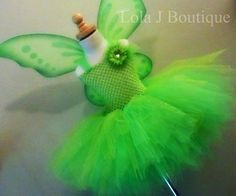 Tinkerbell Tutu Costume Dress idea. Wow, they charge an arm and a leg for something that will cost about $15-$20 max to make and it sooooooo easy to do so!