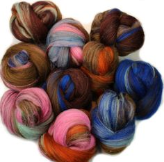 Paddington  mini batts 2 oz. merino wool fine suri by hobbledehoy
