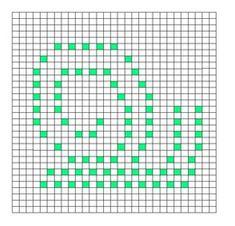 Ravelry: Snail Bobble Chart pattern by Kari Philpott Bobble Stitch Crochet Blanket, Puff Stitch Crochet, Crochet Square Blanket, Crochet Square Patterns, Crochet Blocks, Crochet Diagram, Crochet Chart, Crochet Squares, Filet Crochet