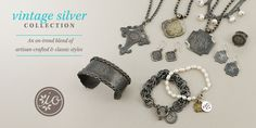 Vintage silver collection by Initial Outfitters! #initialoutfitters www.initialoutfitters.net/jennym