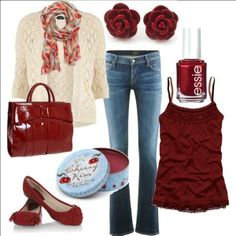 Like everything but the cardigan and scarf color.