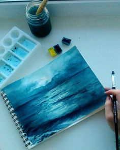 Watercolor Painting Tips for Absolute Beginners with Example, . - Watercolor Painting Tips for Absolute Beginners with Example, … Watercolor Painting Tips for Absolute Beginners with Example, Painting Tips, Painting & Drawing, Sea Drawing, Watercolour Paintings, Watercolors, Sad Paintings, Watercolor Paintings For Beginners, Watercolor Tutorials, Gouache Painting
