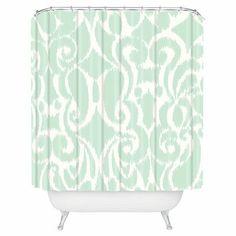 Mint Shower Curtain.