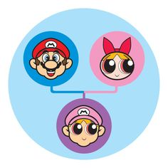 super mario + power puff girl = cutie baby