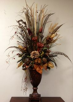 dried preserved floral arrangement designed by arcadia floral and home decor - Silk Arrangements For Home Decor