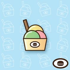 We all scream for ice cream! A bucket of sweet brain freeze all ready to go! #graphicdesign #illustration #takeaway #fastfood #icecream #ice #dessert #graphicroozane #pirategraphic #food #design #icon #ui #ux #vector #picame #illustree #iconaday #digartshare #GraphicDesignUI #userinterface #bestvector #popularpic #designarf #visforvector #PixelPerfectDesign #stevefoxcreations #artisign by stevefoxcreations