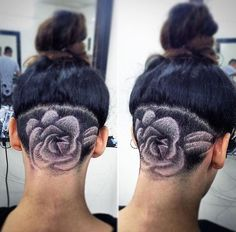 Cool and Trending Under Your Hair Tattoo Art Designs Undercut Hairstyles, Cool Hairstyles, Haircuts, Wedding Hairstyles, Popular Hairstyles, Hair Tattoo Designs, Tattoo Ideas, Short Hair Cuts, Short Hair Styles
