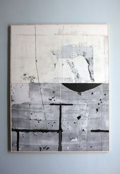 Untitled (coup), 2017, mixed media on linen, 116 x 89 cm Source: antoinepuisais 288 notes