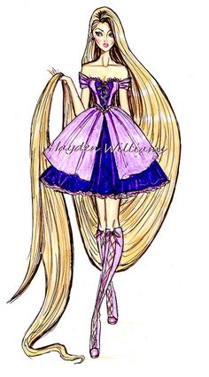 The Disney Diva's collection by Hayden Williams: Rapunzel by Fashion_Luva, via Flickr