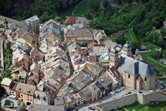 The cathedral and quaint narrow streets of the old town -  Briancon, France