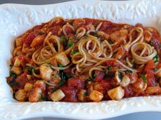 For the Love of Cooking » Scallop and Shrimp Arrabbiata