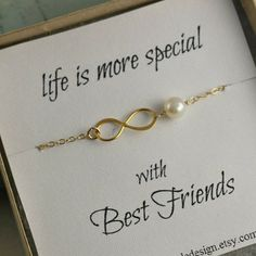 Best Friends Necklace, Infinity Necklace, Bridesmaid Gift, Infinity
