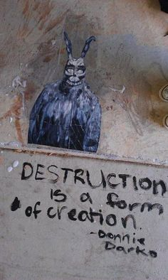 Destruction is a form of creation Drawing S, Art Drawings, Donnie Darko, Grunge Art, Heart Art, Wall Collage, Aesthetic Pictures, Aesthetic Wallpapers, Art Quotes