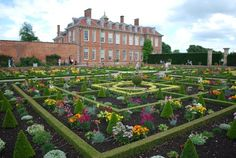 Hanbury Hall with the gardens in full bloom  Droitwich Spa