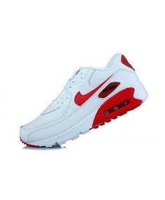 Men'S Women'S Nike Air Max 90 PRM Red White Best Sale Shoes Blue Sneakers, Sneakers For Sale, Air Max Sneakers, Sneakers Nike, Grey Trainers, Mens Trainers, Nike Air Max For Women, Nike Women, Black Sports Shoes