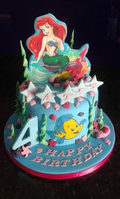 Amazing cake topper for your little mermaid, just add a image on a cookie and voila!