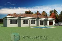 3 Bedroom House Plans South Africa   One Storey House   NethouseplansNethouseplans Small House Floor Plans, Simple House Plans, Garage House Plans, Dream House Plans, Modern House Plans, 6 Bedroom House Plans, 4 Bedroom House Designs, Double Storey House Plans, One Storey House