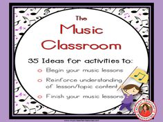 35 Lesson Starters and other Activities for Music Classes