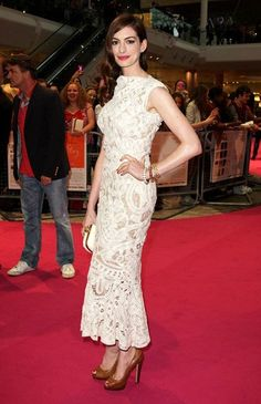 Anne Hathaway in Alexander McQueen- with a few alterations... perfectly modest.