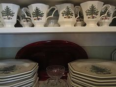 Butler's Pantry with Christmas Dishes
