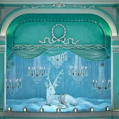 Tiffany christmas holiday window displays on Fifth Avenue flagship