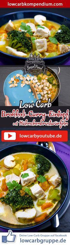 (Low Carb Kompendium) – Der Brokkoli-Curry-Eintopf mit Hähnchenbrustwürfeln ist ein herzhafter, pikanter Low-Carb Eintopf. Vor allem zur kalten Jahreszeit, wärmt dich diese Mahlzeit von innen heraus auf und belebt deine Sinne. Die dezente Schärfe des Currys verleiht diesem Eintopf einen besonderen Geschmack. Und nun wünschen wir dir viel Spaß beim Nachkochen, LG Andy & Diana.
