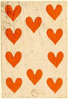 Ten of hearts, France, 1794