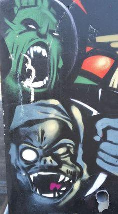 Grafitti in Hackenbroich Süd, Foto: S. Hopp