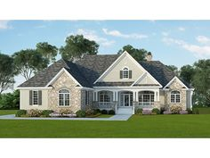 Home Plan HOMEPW76894 is a gorgeous 3140 sq ft, 1 story, 4 bedroom, 3 bathroom plan influenced by  Country  style architecture.