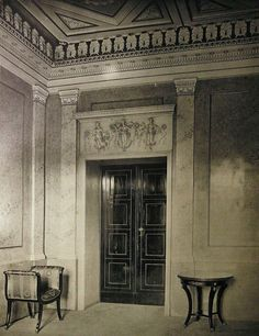 Historical Architecture, Villa Necchi, Classical Interior Design, German Houses, Military Signs, Germany And Italy, Military Insignia, Lost Art, Arquitetura