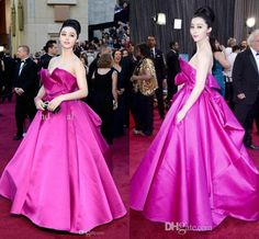 Fan Bingbing Oscar Awards Red Carpet Evening Dresses
