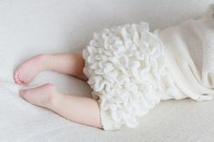 Ruffle Diaper Cover Off white Baptism Gown Baby by MarumaKids, $31.00