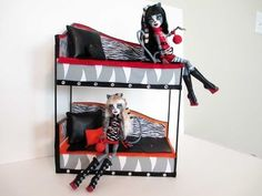 ▶ How to make a werecat twins bunk bed tutorial/ Monster High - YouTube