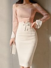 outfit nightclub Open Shoulder Patchwork Plain Roll-Up Sleeve Bodycon Dresses Offene Schulter Patchwork Plain Roll-Up Sleeve Bodycon Kleider Elegant Dresses, Casual Dresses, Fashion Dresses, Dresses For Work, Sexy Dresses, Summer Dresses, Formal Dresses, Wedding Dresses, Simple Dresses