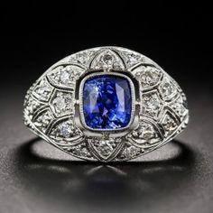 2.30 Carat Sapphire and Diamond Ring