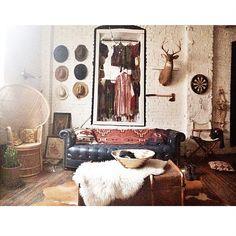 bohemianhomes:  Bohemian Homes: The Home of… Leah Hoffman Via Moon to Moon