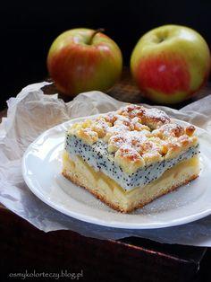 crispy apple pie with poppy-pudding