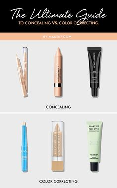 When do you conceal, and when do you color correct? Here's an easy guide to concealers and color correctors to help you out!