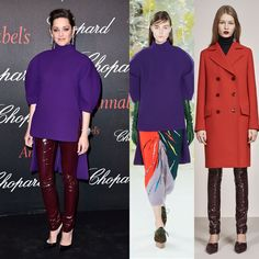 Marion Cotillard in Delpozo Fall 2016 and Christian Dior Pre-Fall 2016