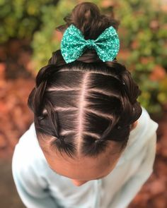Little Girl Hairstyles Braids Girls Hairdos, Lil Girl Hairstyles, Kids Braided Hairstyles, Princess Hairstyles, Toddler Hairstyles, Prom Hairstyles, Braided Updo, Toddler Hair Dos, Curly Hair Styles