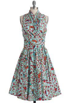 Front Perch Swing Dress   Mod Retro Vintage Dresses   ModCloth.com