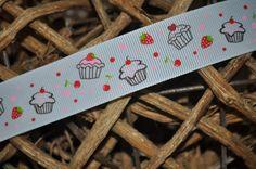 Ripsband *cupcakes* weiß breit von Krümel-Design auf DaWanda.com