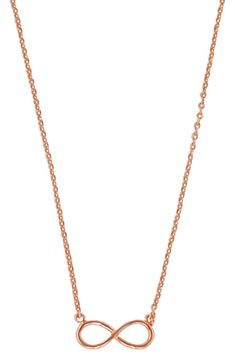 Womens Fashion Simple SS16 Gold or Silver Tone Infinity Pendant Necklace