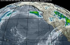Latest Eastern Pacific Satellite View at 11:15 PM mst on Sunday 11/27/2016